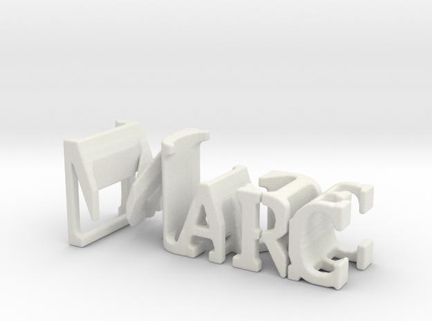 3dWordFlip: Marc/Jackie in White Strong & Flexible