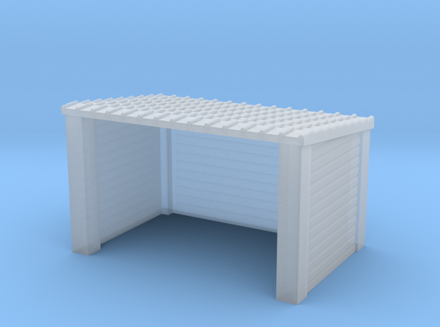 N Gauge Wood Bus Shelter in Frosted Ultra Detail