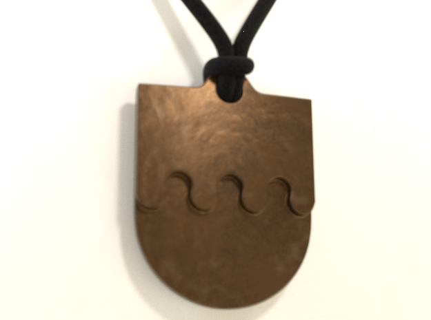 Crownsguard Pendant in Polished Bronze Steel