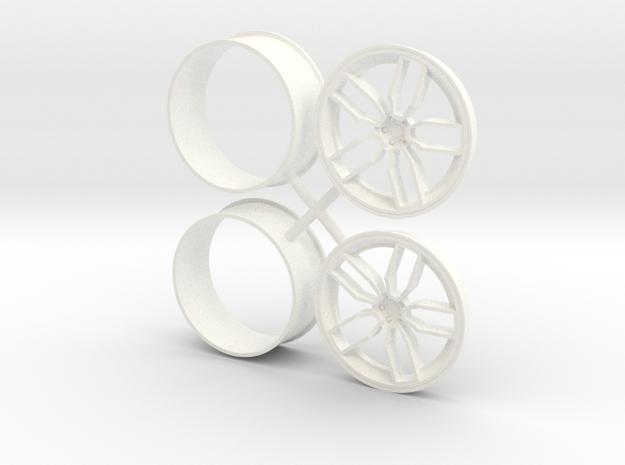 Devils Rim 1/12 Front  in White Processed Versatile Plastic