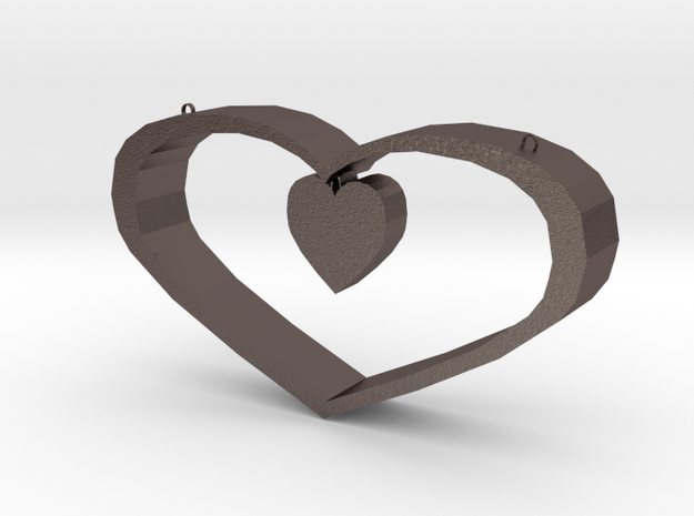 Heart Pendant - Large in Stainless Steel