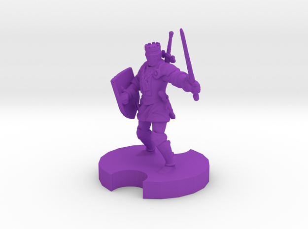 Medieval Knight 2 in Purple Strong & Flexible Polished