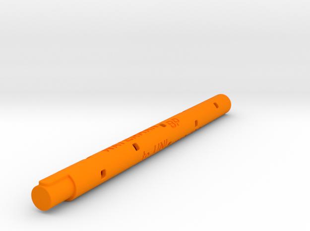 Adapter: Waterman BP to Uni UMR-109 in Orange Processed Versatile Plastic