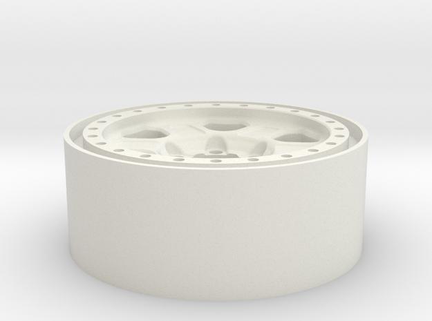 1.9 Beadlock in White Natural Versatile Plastic