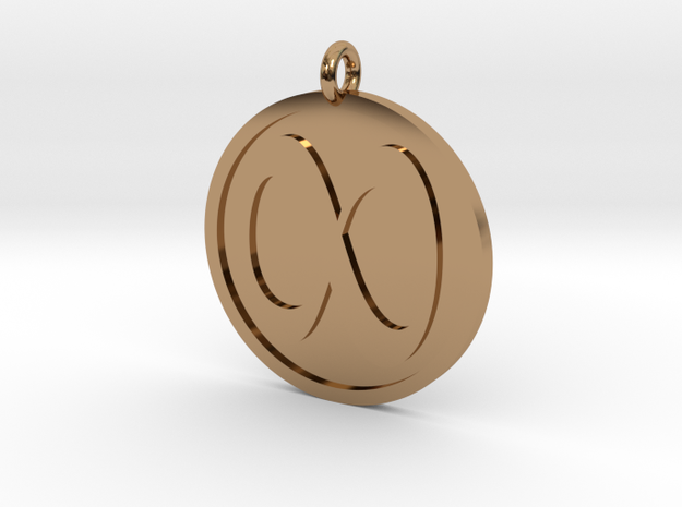 Infinity Pendant in Polished Brass