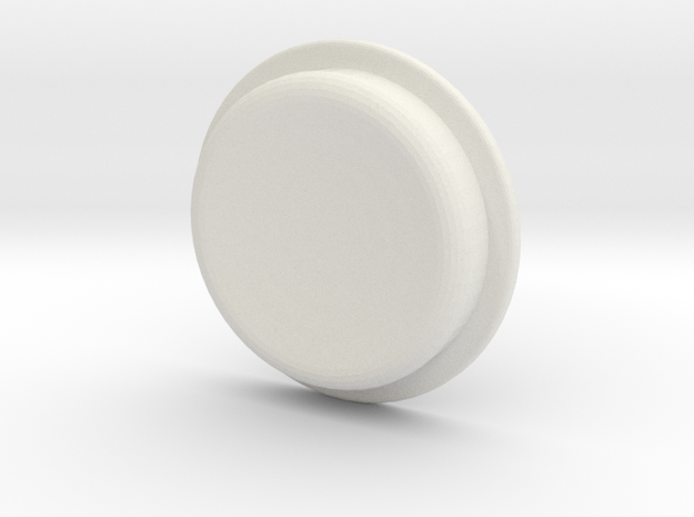 TLF# - Calm Button in White Strong & Flexible