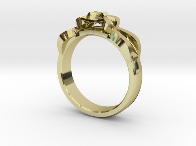Designer Ring #1 in 18k Gold Plated Brass: 7 / 54