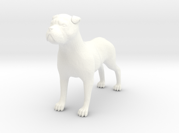 S Scale Watch Dog in White Processed Versatile Plastic