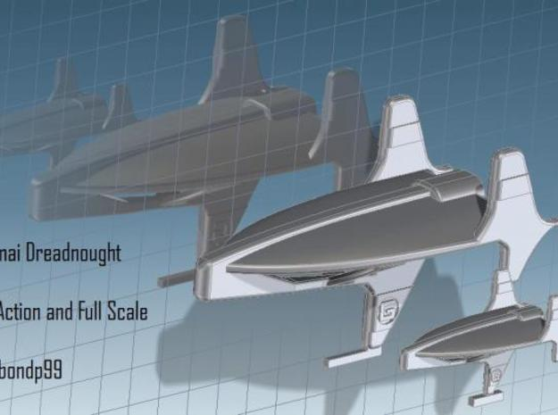 Corumai Fleet Action 3d printed Comparison Fleet Action scale and the normal Full scale