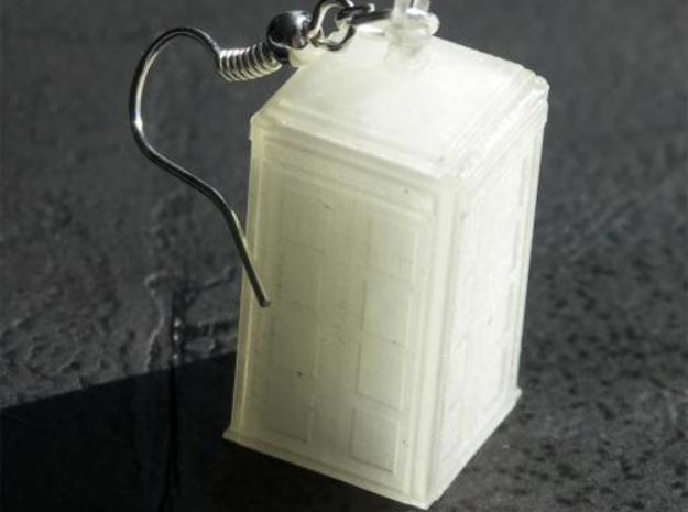 TARDIS Earring (or small pendant) 3d printed Photograph in Frosted Ultra Detail