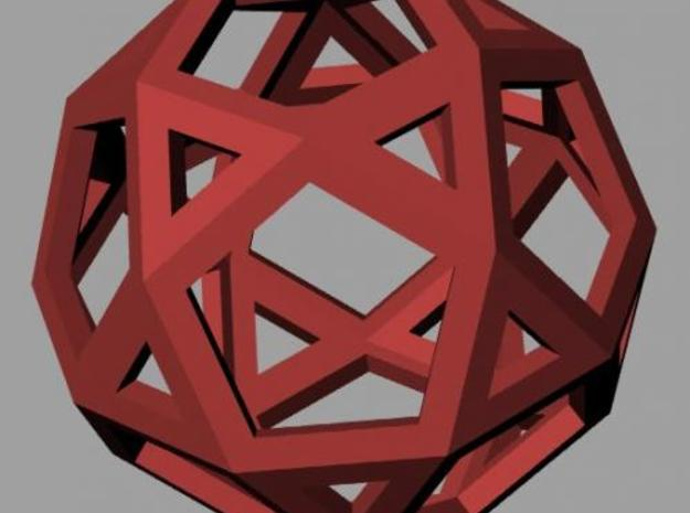 Icosidodecahedron 3d printed Rendering