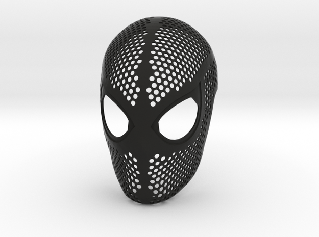 Homecoming Face Shell – Costume Mask SpideyPlanet in Black Strong & Flexible: Small