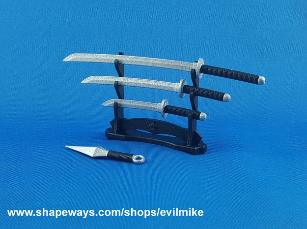 Ninja Weapons Pack 2 in White Processed Versatile Plastic