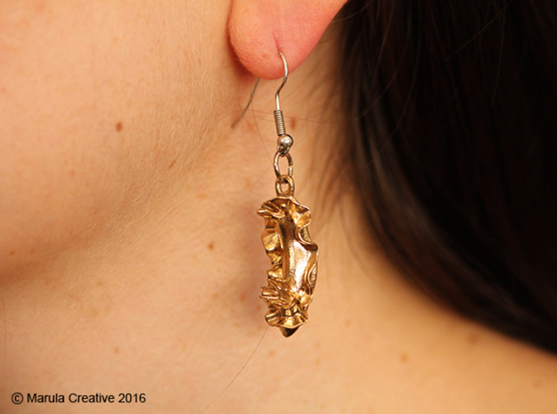 Becia the Nudibranch Earring in Raw Silver