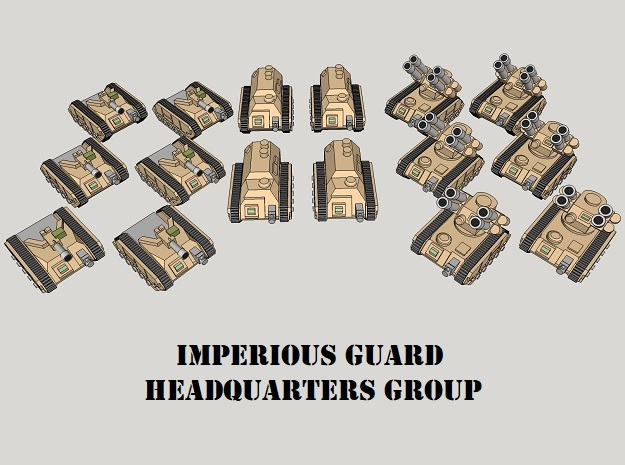 3mm Imperious Guard HQ Group (16pcs)