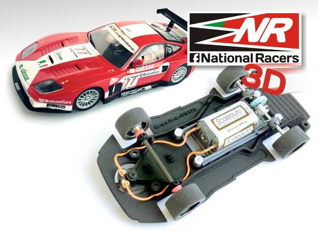 3D Chassis - Carrera Ferrari 575* (Combo) in Black Natural Versatile Plastic