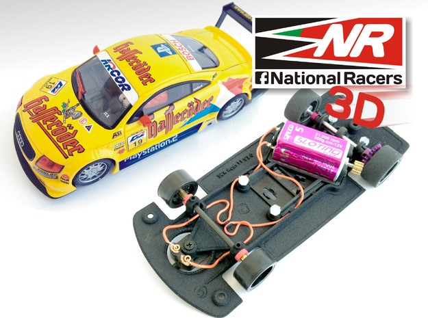 3D Chassis - SCX Audi TT (Combo) in Black Strong & Flexible