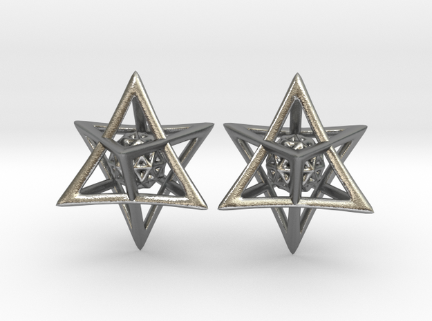Of Interlocking Triangles and Spheres in Natural Silver (Interlocking Parts)
