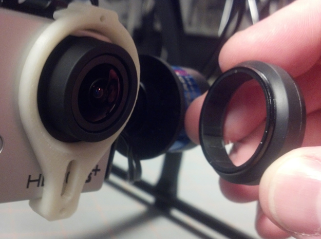 Tarot T-2D GoPro Gimbal Clamp for Lens Protectors 3d printed Lens Relief