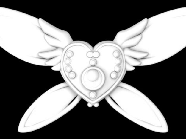 Custom Heart Brooch 3d printed