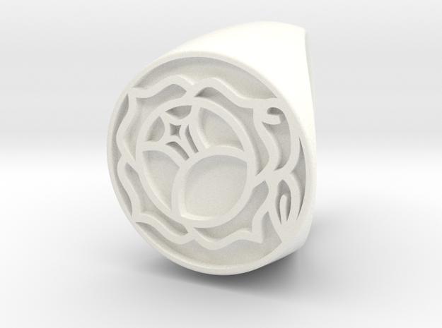 Utena Ring Size 7 in White Processed Versatile Plastic