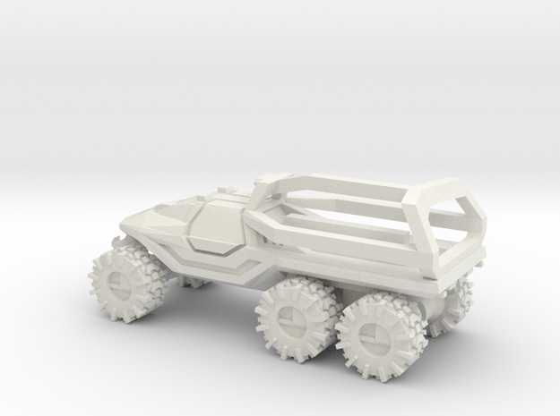All-Terrain Vehicle 6x6 closed cab with Roll Over  in White Strong & Flexible