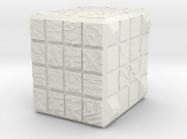NANO CUBE in White Natural Versatile Plastic