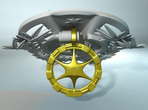 Shapeways Award Base 3d printed Flip the pendant up