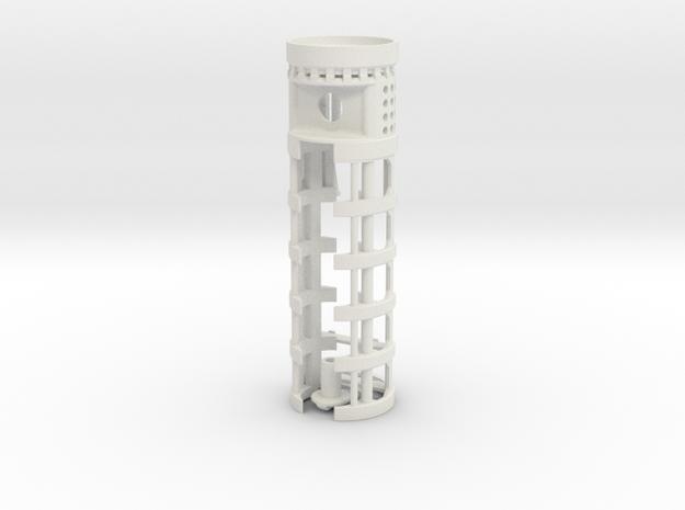 """SH Maverick - All-in-One 1.14""""OD - Prizm + 16650 in White Natural Versatile Plastic"""