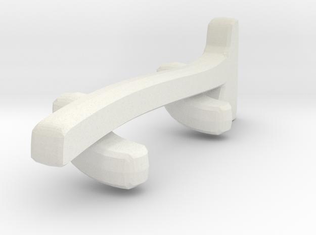 1/87 Axe In Holder in White Natural Versatile Plastic
