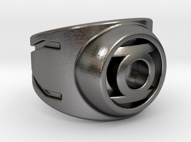 Green Lantern Ring in Polished Nickel Steel: 7 / 54