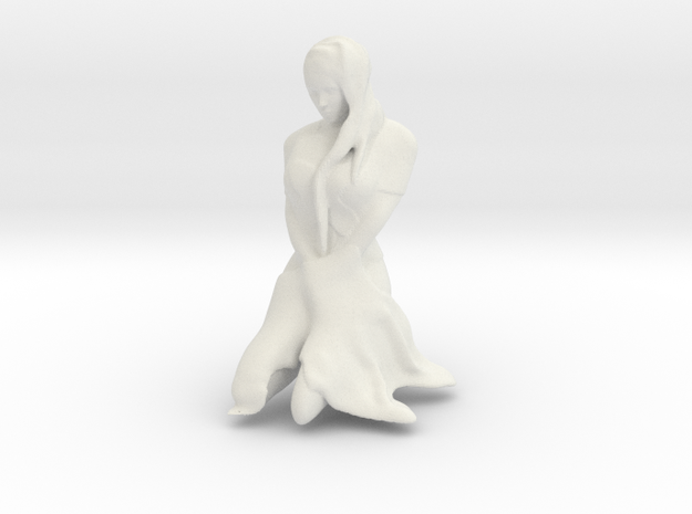 Women On Knees in White Natural Versatile Plastic