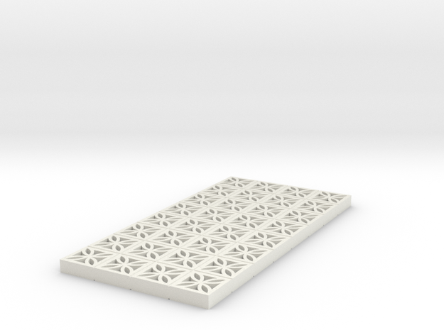 1/25 Breezeblock C 4x8 panel in White Strong & Flexible