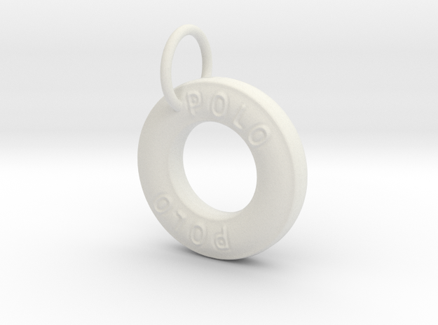 Polo Mint Pendant in White Natural Versatile Plastic