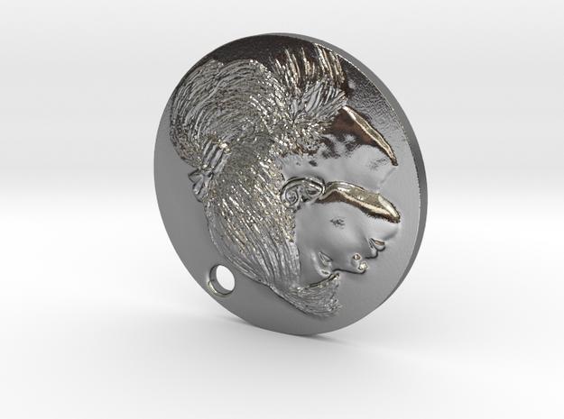 Claudija Medallion in Polished Silver