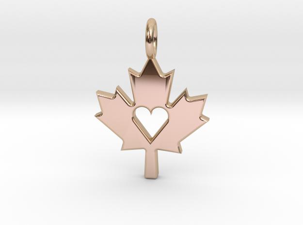 Love The Maple Leaf - Pendant
