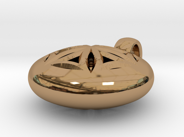 NUCLEO - SEED OF LIFE  PENDANT  in Polished Brass