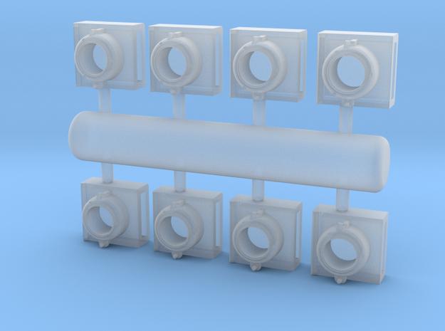 DL0007 GE Ditch Lights Deck, 1/87.1 in Smoothest Fine Detail Plastic
