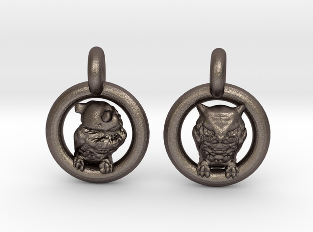 Owl Earrings in Stainless Steel