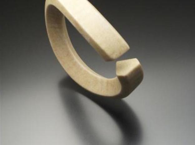 Single Diamond Bangle 3d printed Description
