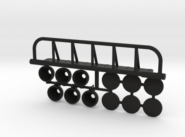 AJ10054 6 Spot Light Set in Black Strong & Flexible
