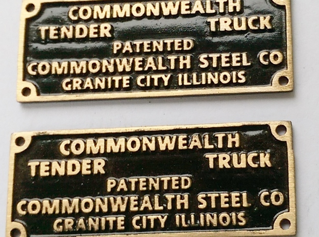Commonwealth Plate 2p in Natural Bronze