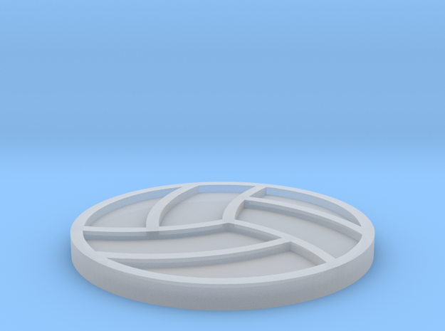 Volleyball Drink Coaster in Smooth Fine Detail Plastic