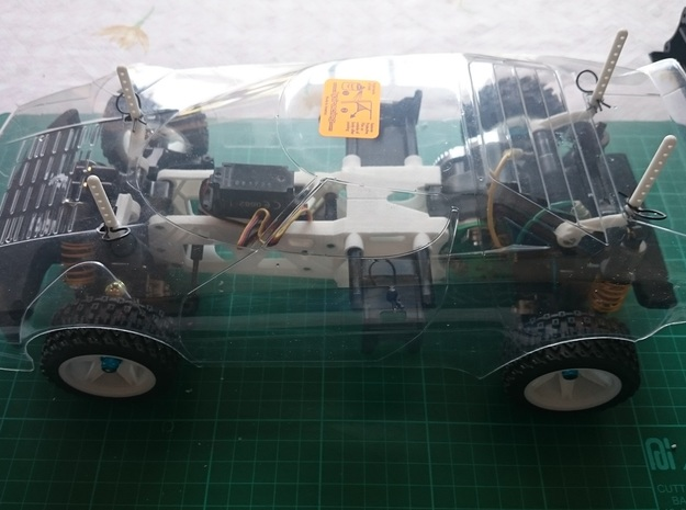 Tamiya M04 - Body Posts Without Aerial Mount in White Processed Versatile Plastic