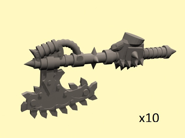 28mm Chain axe with evil hand (left)