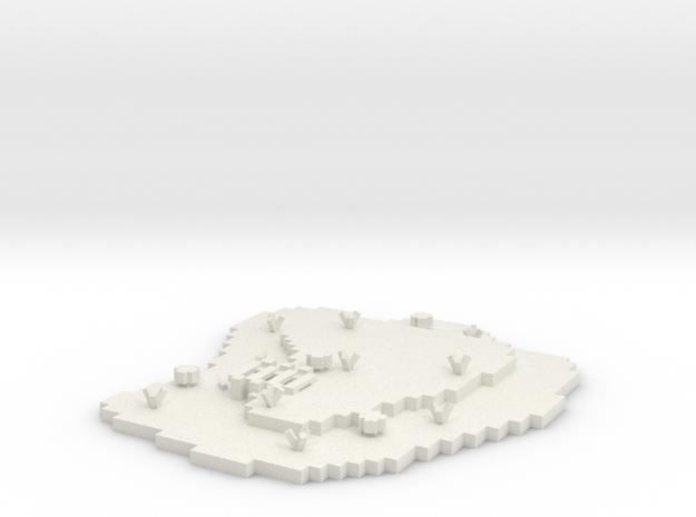 Land Platform Base in White Strong & Flexible