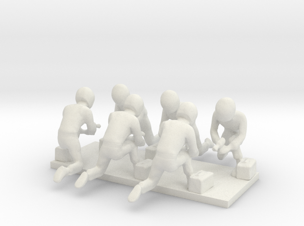 1/43 Formula Racing Pit Crew X 6 in White Strong & Flexible