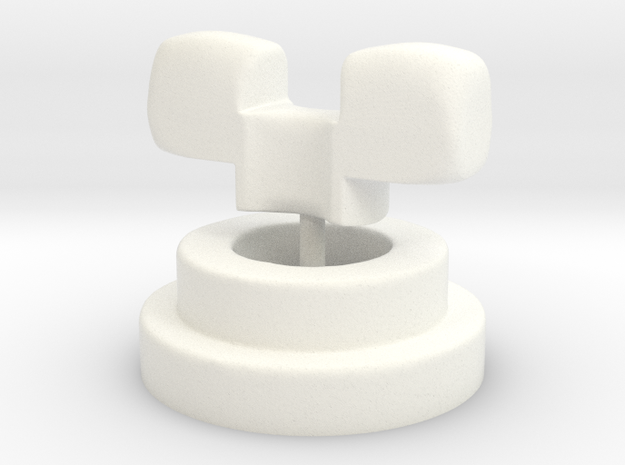 Luts Neck Adapter 011 MSD Size TEST VERSION in White Strong & Flexible Polished