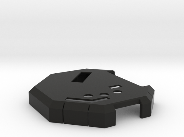Board Case v23 - Cover in Black Natural Versatile Plastic
