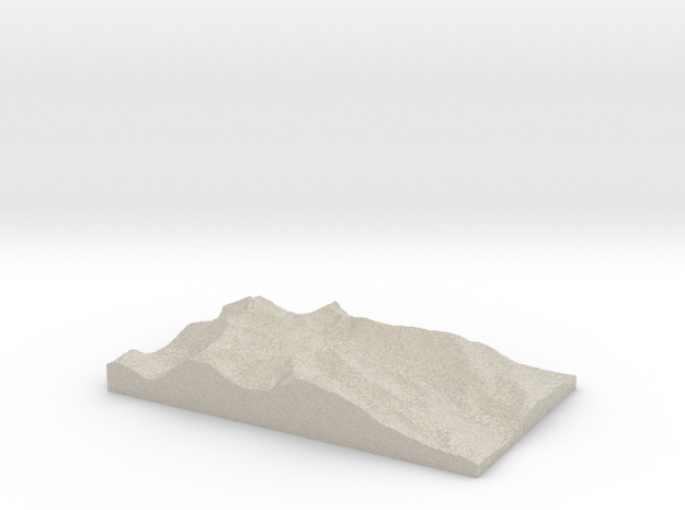 Model of Platte Gulch in Natural Sandstone